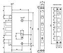 Замок врезной Apecs T-0523-C-CR-R (правый) с ручками для стальных дверей, фото 4