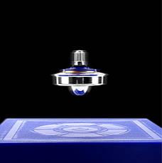 Левитирующий волчок. Интерактивная игрушка. Magic UFO. Магнитный подвесной летающий диск. Левитирующая юла, фото 3