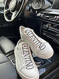 Кеды женские белые в стиле Valentino, фото 3