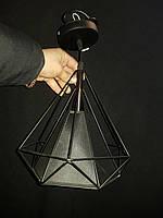 Винтажный светильник LOFT подвес черный с регулируемой высотой
