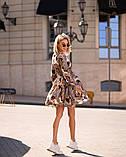 Стильное летнее платье, (40-46рр), принт цепи абстракция, фото 3