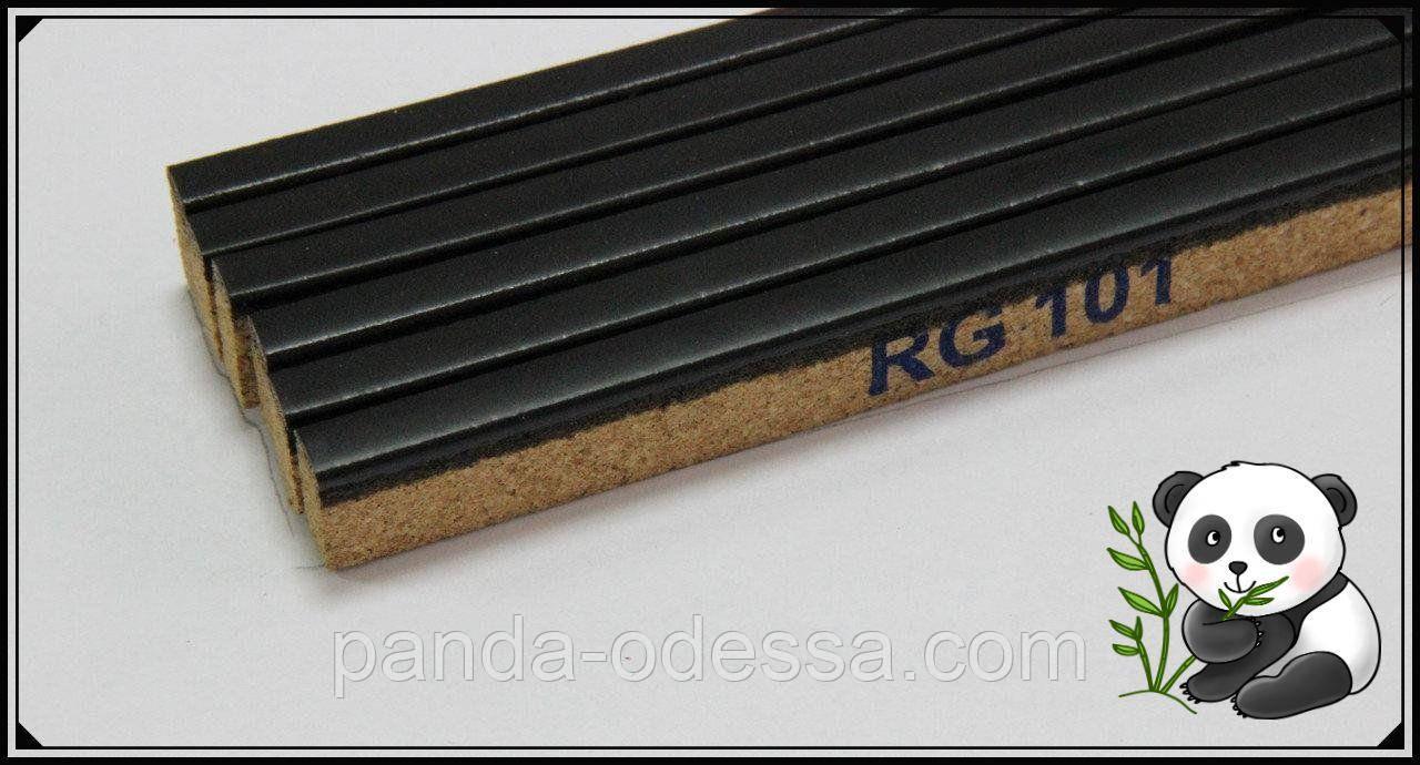 Пробковый порожек компенсатор Черный 900х15х7мм RG 101