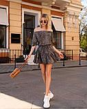 Стильное летнее платье, (40-46рр), принт лео темный, фото 2