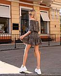 Стильное летнее платье, (40-46рр), принт лео темный, фото 3