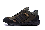 Мужские кожаные кроссовки Adidas Terrex Green (реплика), фото 2