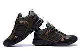 Мужские кожаные кроссовки Adidas Terrex Green (реплика), фото 4