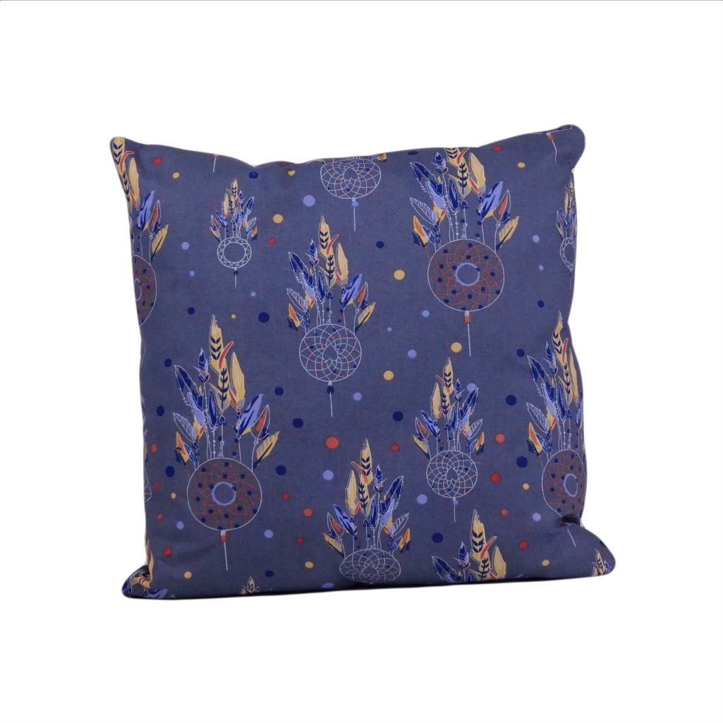 Подушка, 40*40 см, (бавовна), (ловець снів на синьому)