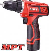 MPT MPT  Дрель - шуруповерт PROFI  аккумуляторная 12V, Li-ion,1.5 Ач, 2 скор. 0-10 мм, 2 АКБ, кейс,