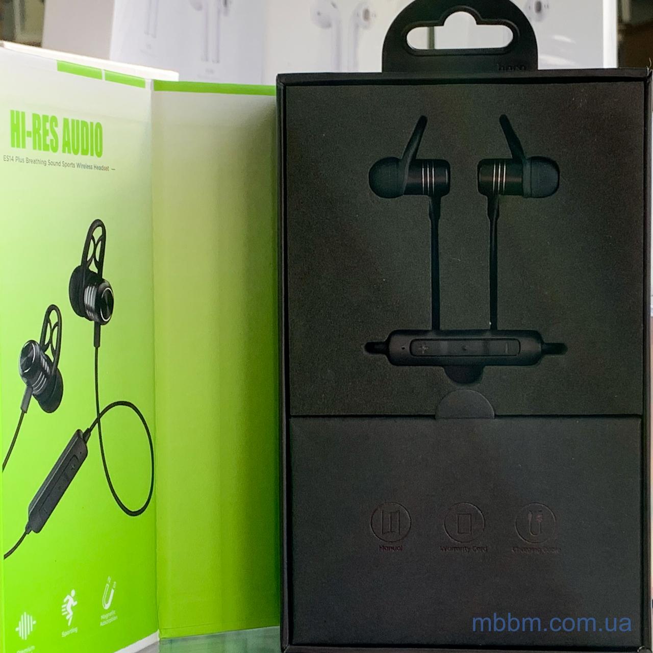 bluetooth Hoco ES14 Plus Breathing Sound Sports Вкладыши Силикон Гарнитура Bluetooth Черный AVRCP Hands-free