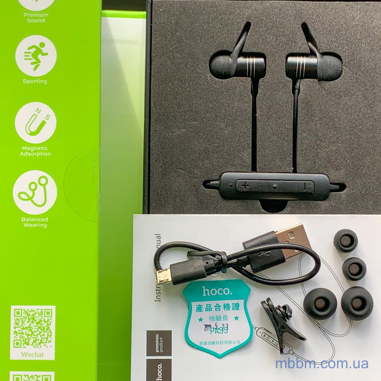 bluetooth Hoco ES14 Plus Breathing Sound Sports Вкладыши Силикон Гарнитура Bluetooth Черный AVRCP Hands-free Headset Внутри ушной раковины