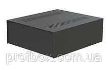 Корпус металевий MB-30 (Ш235 Г275 В92) чорний, RAL9005(Black textured)