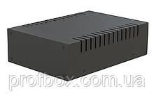 Корпус металевий MB-27 (Ш155 Г220 В65) чорний, RAL9005(Black textured)