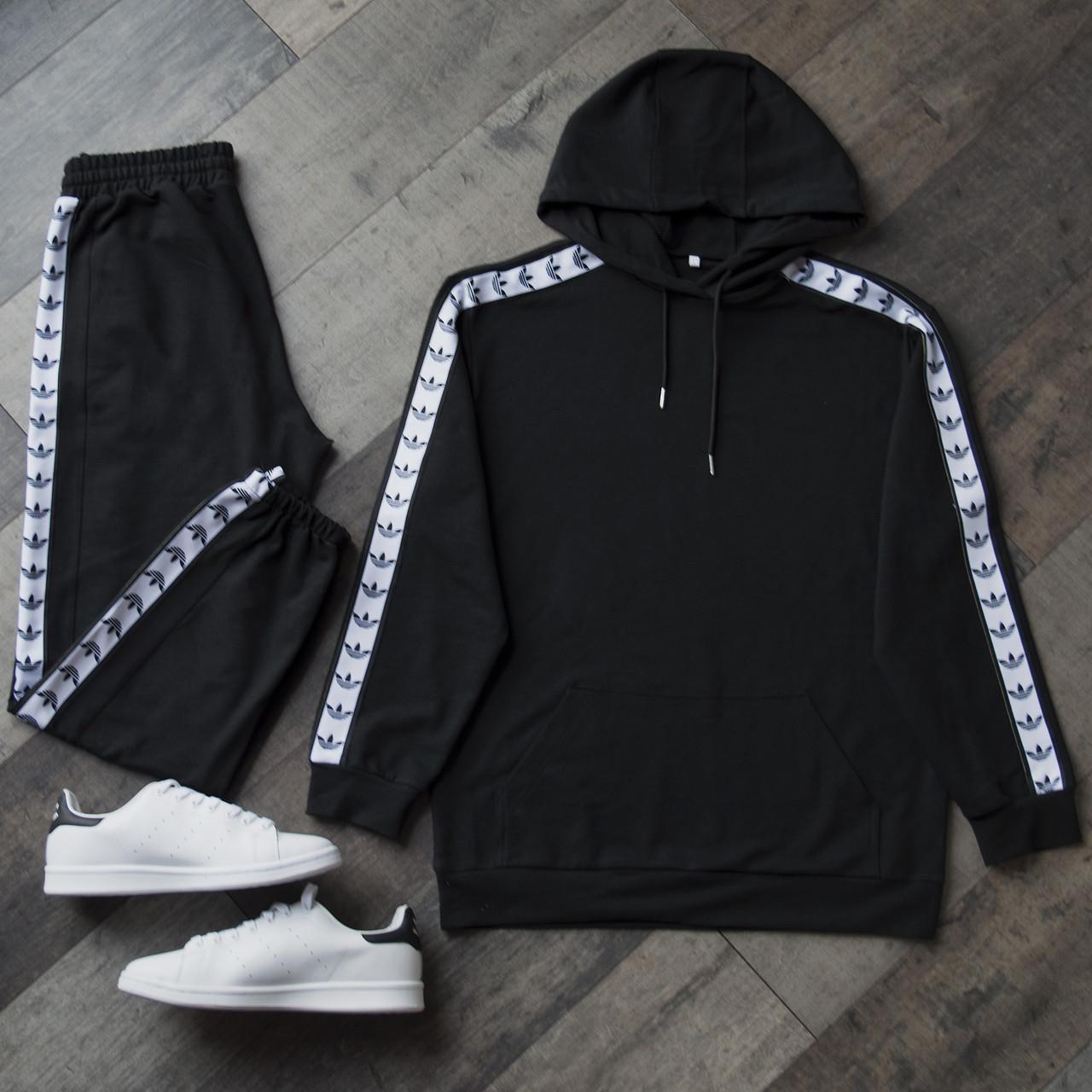 Спортивный костюм мужской черный сезон весна осень в стиле Adidas (Адидас)