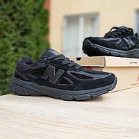 Мужские кроссовки в стиле New Balance 990 черные, фото 1