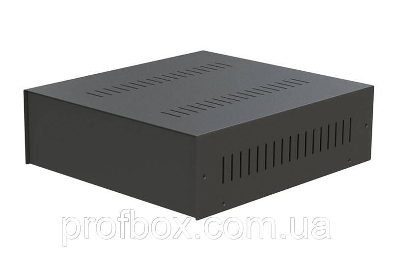 Корпус металевий MB-28 (Ш304 Г330 В100) чорний, RAL9005(Black textured)