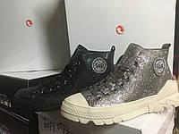 Женские кеды-ботиночки в камнях