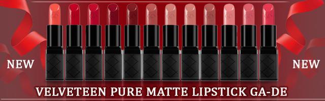 Velveteen Pure Matte Lipstic GA-DE