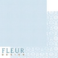 """Лист бумаги для скрапбукинга """"Небесный Голубой"""", коллекция """"Шебби Шик Базовая 2.0"""", 30,5х30,5 см, плотность 19"""