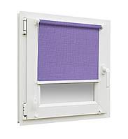 Готовые рулонные шторы 300х1650мм Лен 7438 (лиловый цвет)