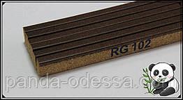 Пробковый порожек компенсатор Орех 900х15х7мм RG 102