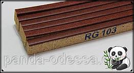 Пробковый порожек компенсатор Махагон 900х15х7мм RG 103