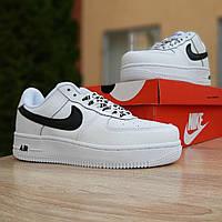 Кроссовки женские в стиле  Nike Air Force 1 LV8 белые с черным, фото 1