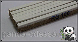 Пробковый порожек компенсатор Белый 900х15х7мм RG 106