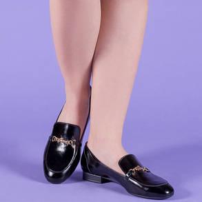 Туфлі жіночі із закритим носком на підборах ремінцем і бантом розміри 36-41, фото 2