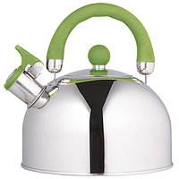 Чайник Unique  со свистком UN-5302 Green 2,5л