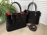 Женская сумочка замша натуральная плюс эко кожа ZARA  расцветках.