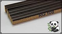 Пробковый порожек компенсатор Орех темный 900х15х7мм RG 108