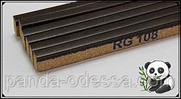 Корковий поріжок компенсатор Горіх темний 900х15х7мм RG 108