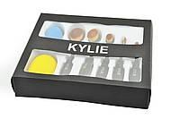 Набор профессиональных кисточек K16 Kylie Кайли для нанесения макияжа 5 шт и 2 спонжа