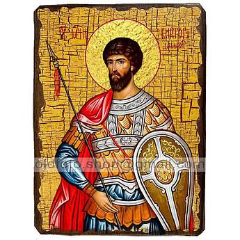 Икона Виктор Святой Мученик Дамасский ,икона на дереве 130х170 мм