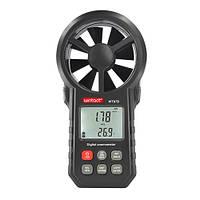 Анемометр USB, Bluetooth 0,3-30м/с, -10-45°C  WINTACT WT87B