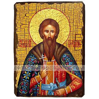 Икона Вячеслав (Вацлав) Святой Благоверный Князь Чешский ,икона на дереве 130х170 мм