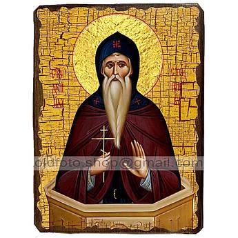 Икона Даниил Святой Столпник ,икона на дереве 130х170 мм