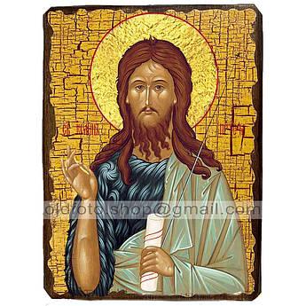 Икона Иоанн Предтеча Пророк и креститель ,икона на дереве 130х170 мм