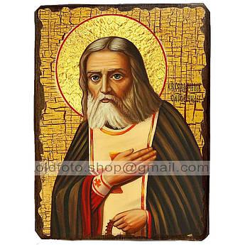 Икона Серафим Преподобный Саровский ,икона на дереве 130х170 мм