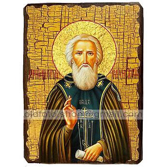 Икона Сергий (Сергей) Святой Радонежский ,икона на дереве 130х170 мм
