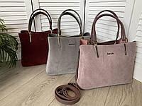 Женская сумочка замша натуральная и эко кожа ZARA сумка в расцветках.