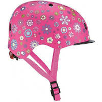 Шлем Globber с фонариком Цветы Розовый 48-53см (XS/S) (507-110)