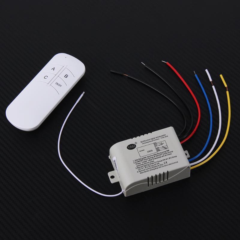 Дистанційний вимикач освітлення (3 канали) з пультом