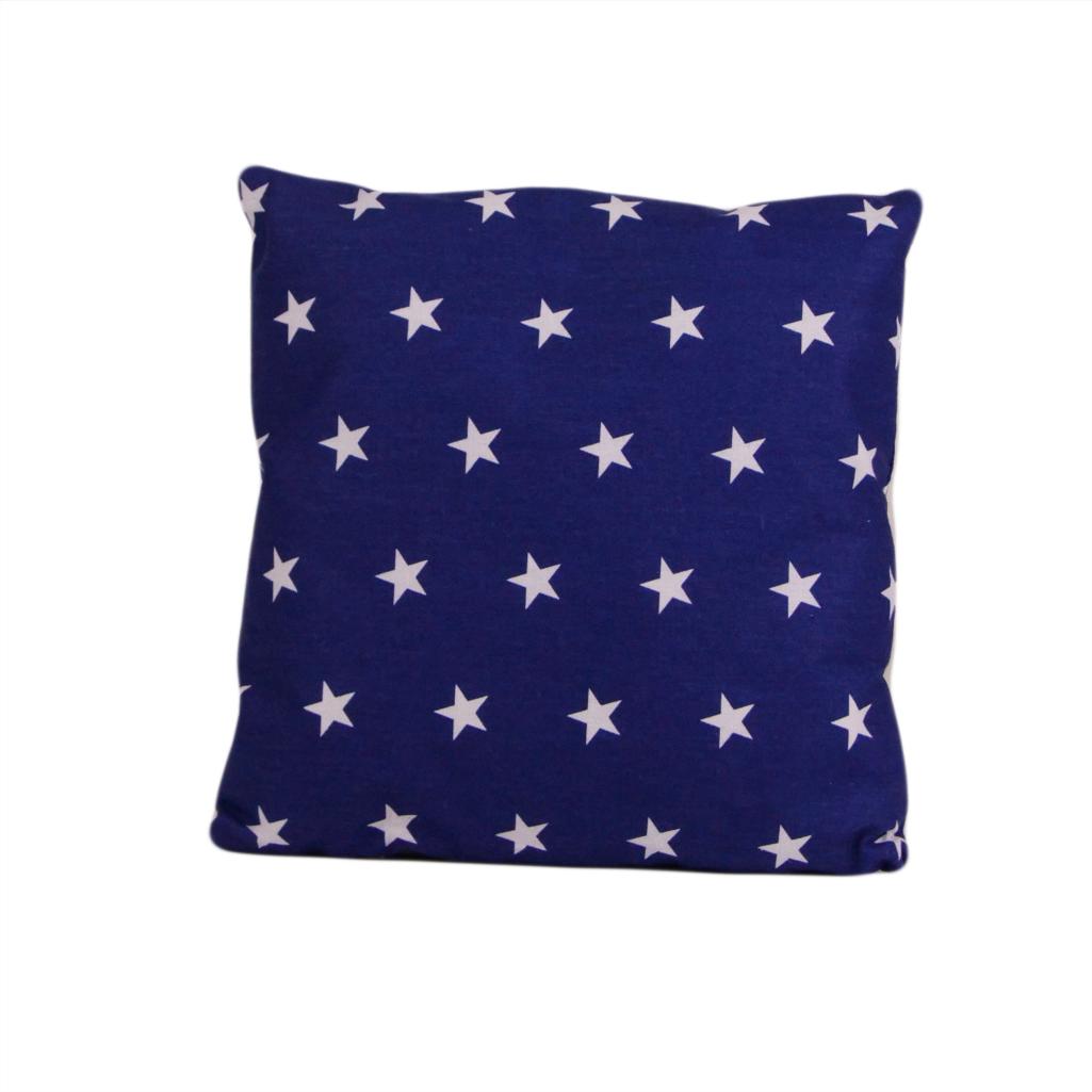 Подушка, 30*30 см, (бавовна), (зірочки на синьому)