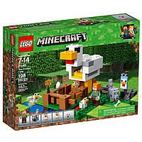 Конструктор LEGO MINECRAFT Курятник 198 деталей (21140), фото 1