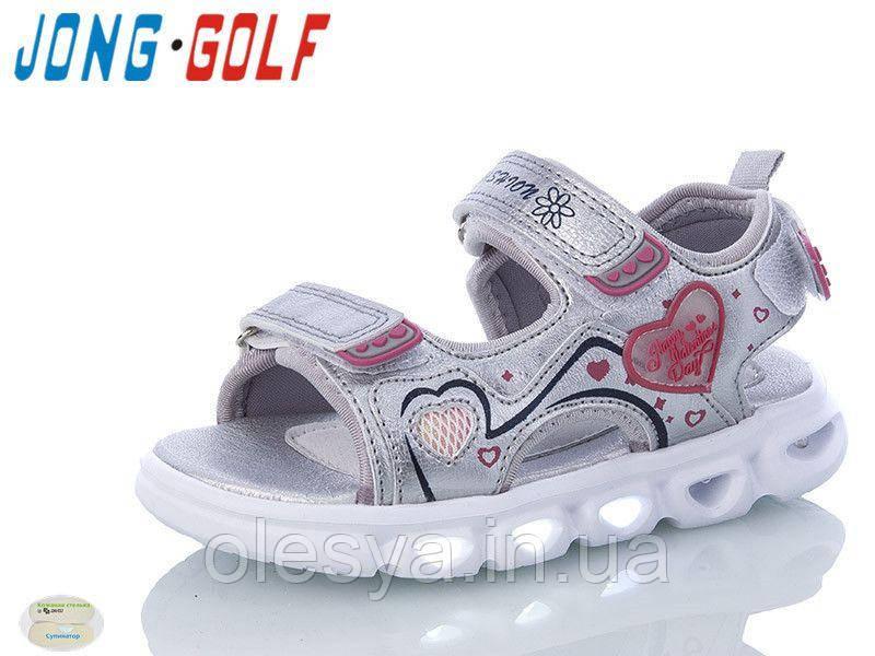 Летние босоножки для девочек Jong Golf с подсветкой подошвы Размеры 24- 31Новинка 2020!