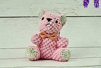 Брелок Мишка со стразами розовый, 12 см
