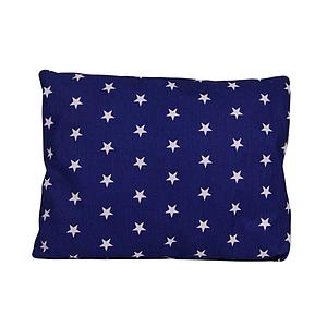Подушка, 45*35 см, (бавовна), (зірочки на синьому)