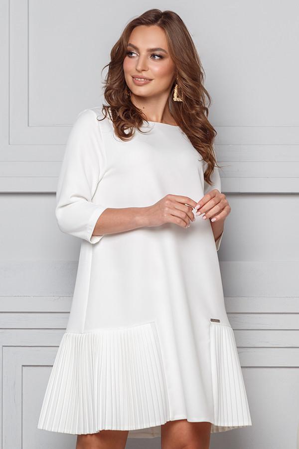 Красиву білу сукню плісе трапеція 44,46,48 розмір