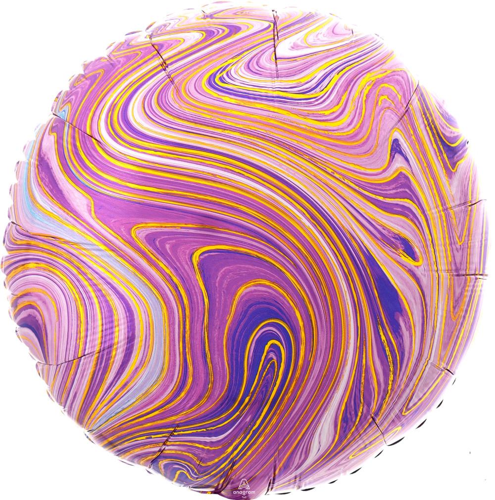 """Фол шар Anagram 18"""" Круг агат фиолетовый / purple marble (Анаграм)"""